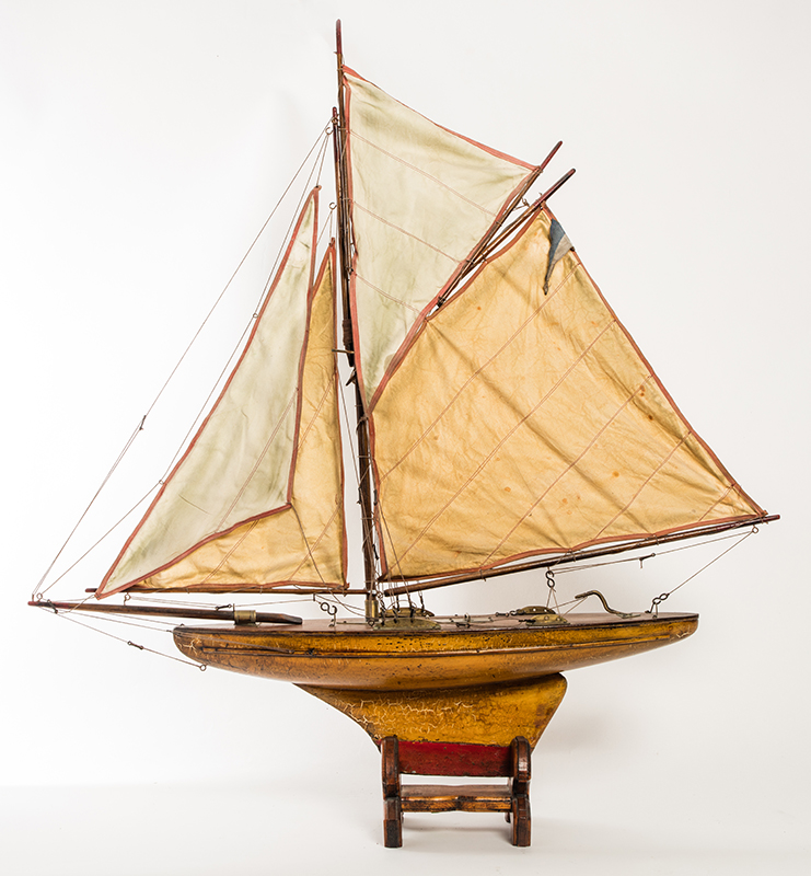 Wood and Cloth Pond Boat