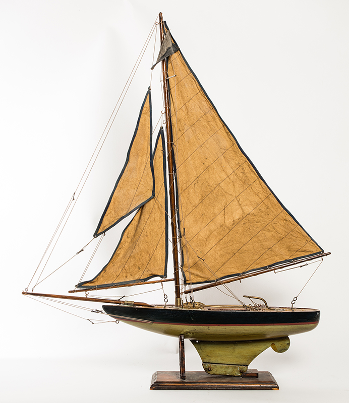 Pond Boat with Amber Sails
