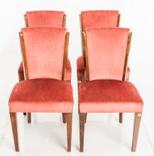 Set Of 4 Art Deco Side Chairs