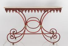 Baker's Iron And Marble Console