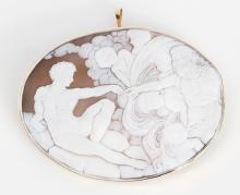 Cameo Brooch in  a 14K Gold Frame