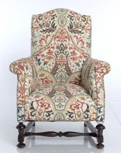 Jacobean Style Wing Chair