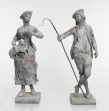Shepherd And Shepherdess Garden Statues