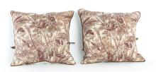 Decorative Pillow in Antique French Verdure Fabric
