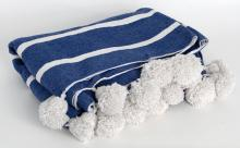 Blue And White Wool Blanket