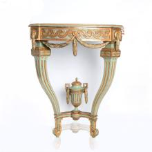 Large Gustavian Corner console Table