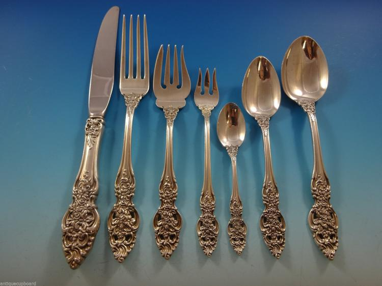 Vienna by Reed & Barton Sterling Silver Flatware Set For 12 Service 90  Pieces - Vienna By Reed & Barton Sterling Silver Flatware Set For 12