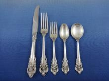 Grande Baroque by Wallace Sterling Silver Flatware Set Service Dinner 66 Pieces