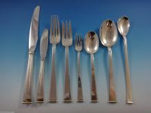 Gold Tip by Gorham Sterling Silver Flatware Set Service 101 Pcs Modernism