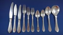 Continental by Georg Jensen Sterling Silver Flatware Set For 8 Service 80 Pieces