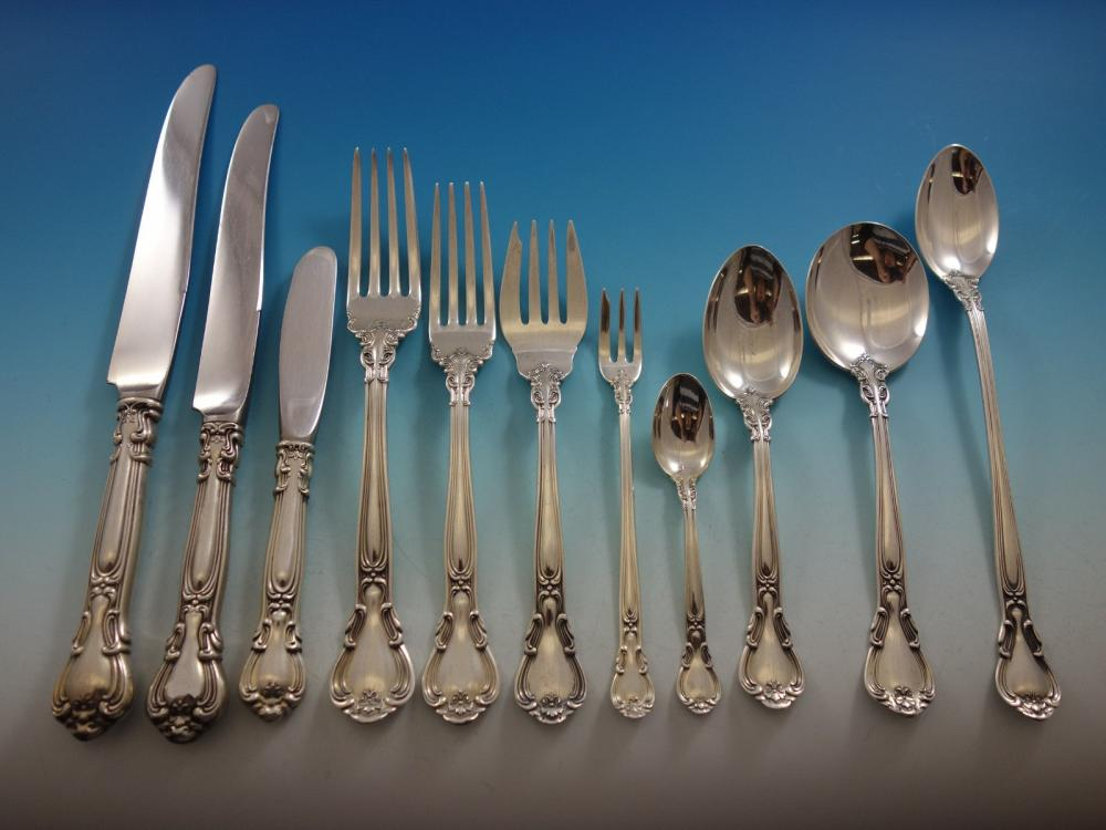 Set Of 6 Gorham Chantilly Pattern Sterling Silver Oyster Forks