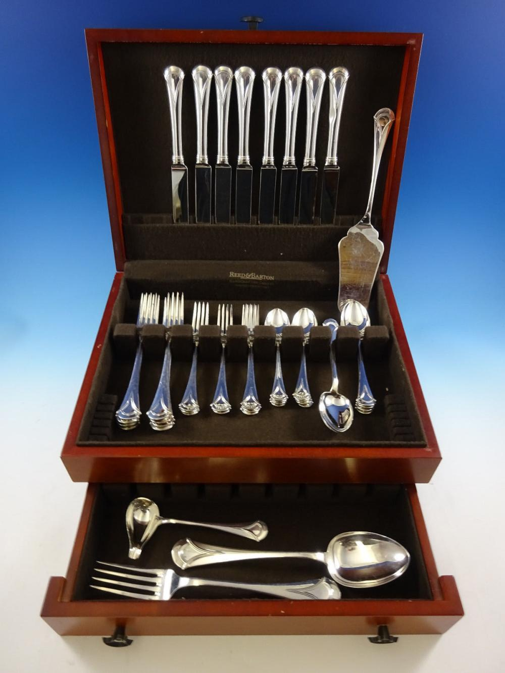 Lui by Bellotto Italy Sterling Silver Flatware Set 8 Service 44 PC Dinner  Modern - Antique Cupboard – Browse & Buy Art Online Invaluable