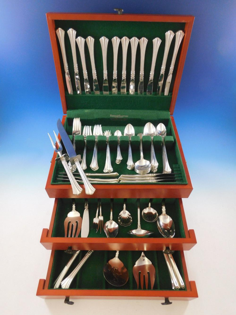 Sterling Silver Flatware Reed And Barton Eighteenth Century Salad Fork