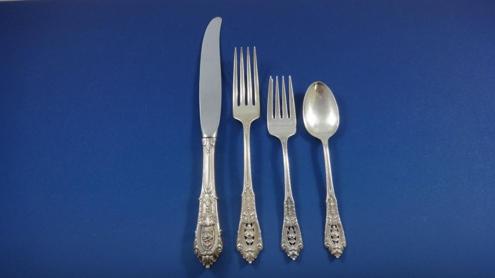 """Auction Is For One Wallace Rose Point 6 3//8/"""" Sterling Silver Salad Fork 11 Avail"""