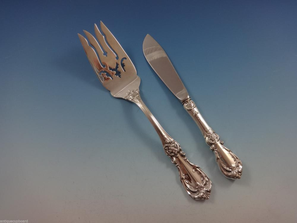 """Burgundy by Reed and Barton Sterling Silver Dinner Fork 7 7//8/"""" Flatware"""