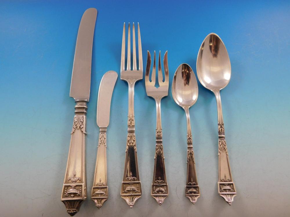 "Lansdowne By Gorham Sterling Silver Serving Spoon 8 3//8/"""