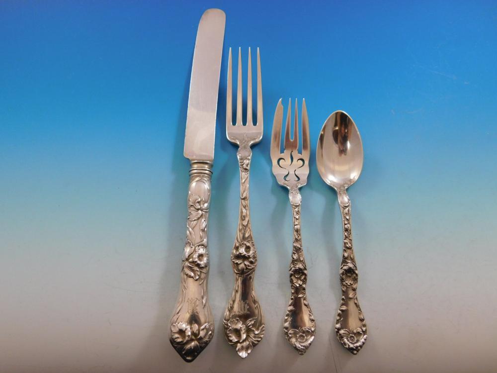 "Les Cinq Fleurs by Reed /& Barton Sterling Place Soup Spoon 7 1//8/"""