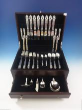 Antiques Mogensen Danish Sterling Silver Flatware Set Hand Wrought 36 Pcs Fontaine By O Other Antique Furniture