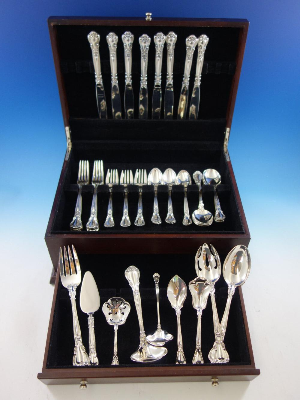 "Gorham Chantilly Sterling Silver Serving Fork 8-1//2/"" No Monogram 2 Available"
