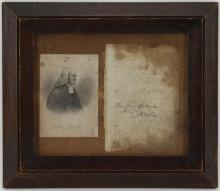 Portrait & signature of Rev. John Wesley & signature of Charles Haddon Spurgeon.