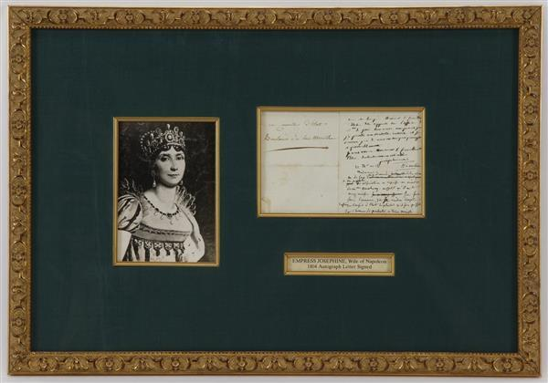 Autographed 1804 Letter Signed by Empress Josephine, Wife of Napoleon.