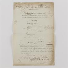 Charles-Maurice Talleyrand, signed document