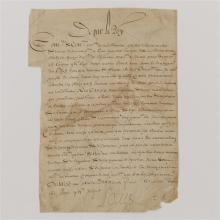 Louis XIII (1601-1643) signed letter.