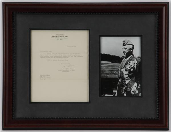 Autographed letter from Lieut. General G. S. Patton December 7, 1944