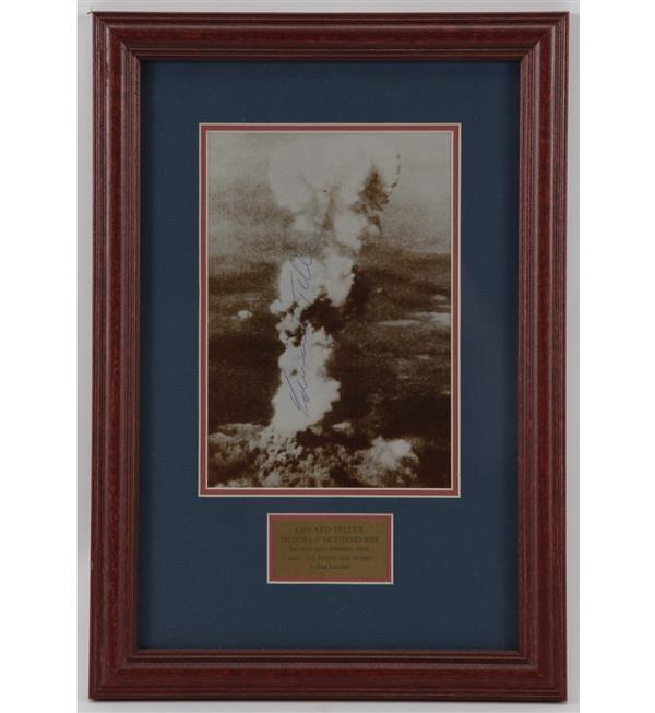 Photo of Hiroshima, Japan minutes after the first A-Bomb Exploded- Signed by Edward Teller