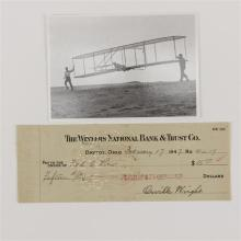 Orville Wright 1947 Aviation Pioneer Signed Check