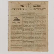 Newspaper, The Balance, Columbian Repository, August 21, 1804, No. 34, Vol. III, editorial by General Hamilton.
