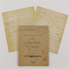 George Gershwin, signed piano score, An American in Paris copyright 1929 35p.