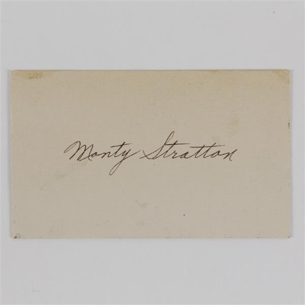 Monty Stratton Signature