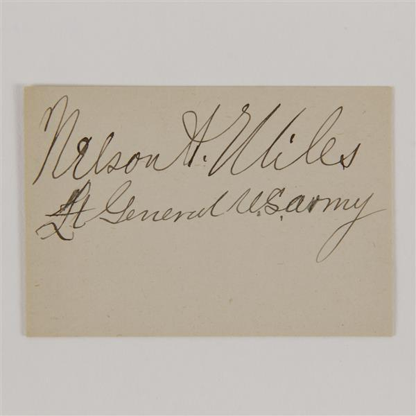 Nelson A Miles (1839-1925) clipped Signature.
