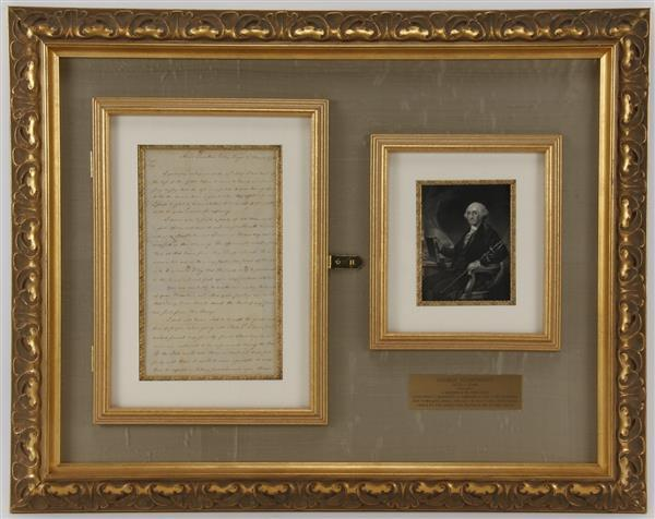 Framed Letter Signed by George Washington (1732-1799) to Brigadier General John Lacey Jr.