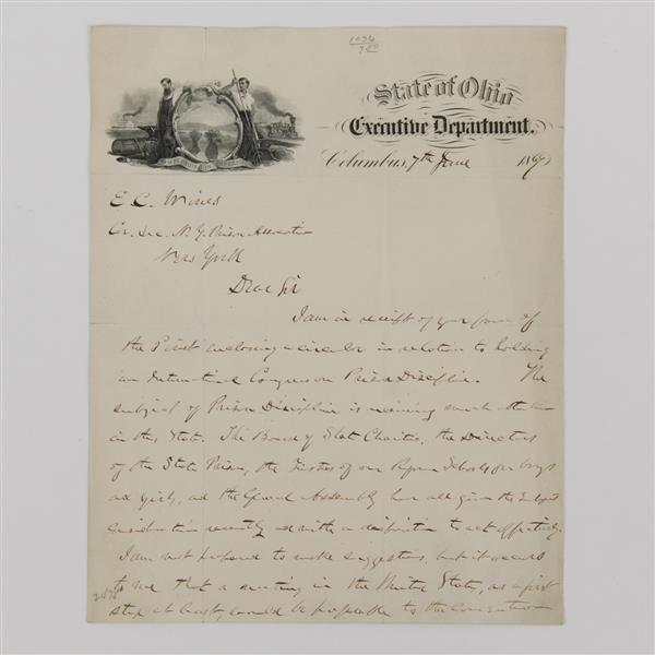 Rutherford B. Hayes, letter and signed photo.
