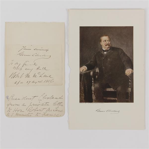 Grover Cleveland, letter