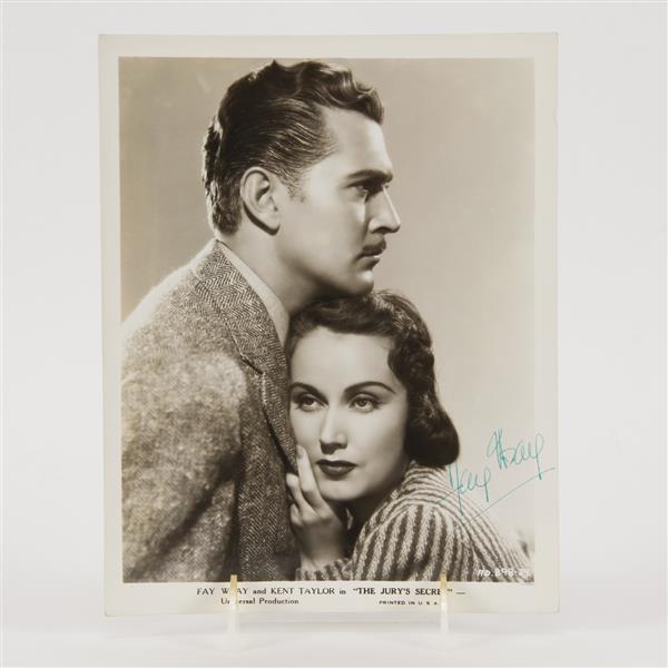 Fay Wray, actress, signed photo.