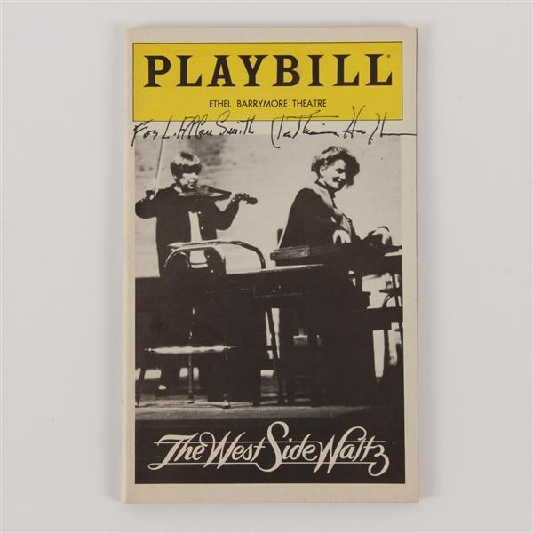 Katharine Hepburn (1907 - 2003) signed Playbill