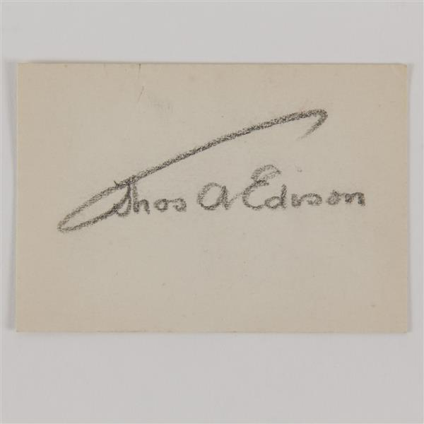 Thomas A. Edison signature