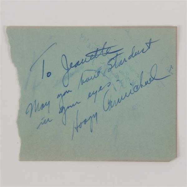 Hoagy Carmichael (1899-1981) autograph.