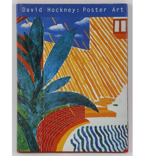 David Hockney signed book.