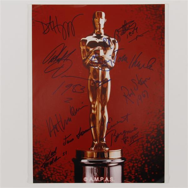 Academy Award Oscar Photo Signed by 10 winners.