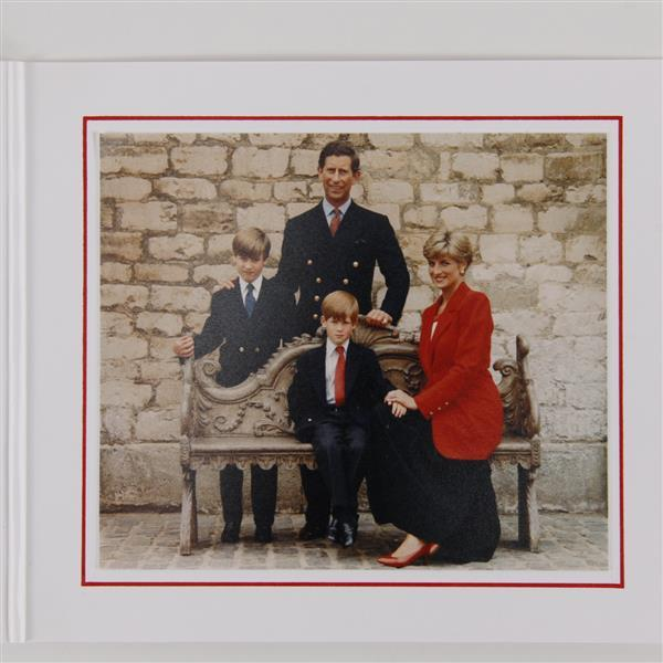 Royal Christmas Card from Charles and Diana, 1991.