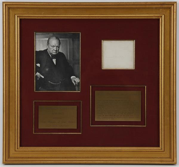 Autograph by Sir Winston Churchill (1874-1965)