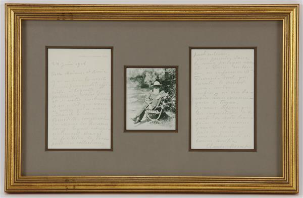 Autographed Letter Signed by Claude Monet, two full pages, June 24, 1918. To Julie Manet.