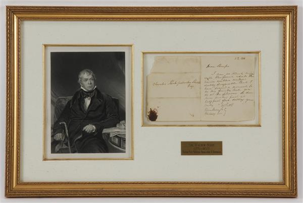 Autographed Letter from Sir Walter Scott (1771-1832)