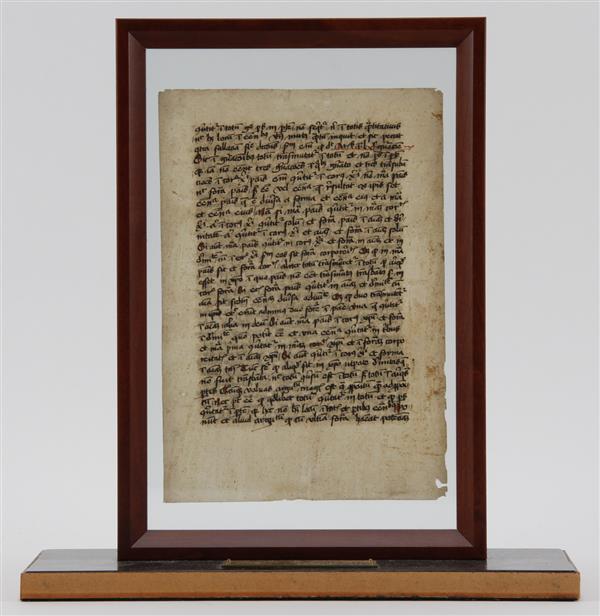 Thomas Aquinas Latin Manuscript Dated 1447