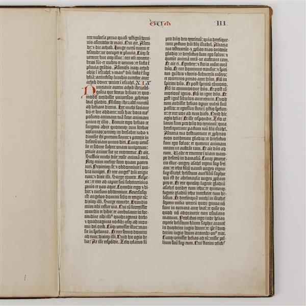The Gutenberg Bible Leaf 1450-1455