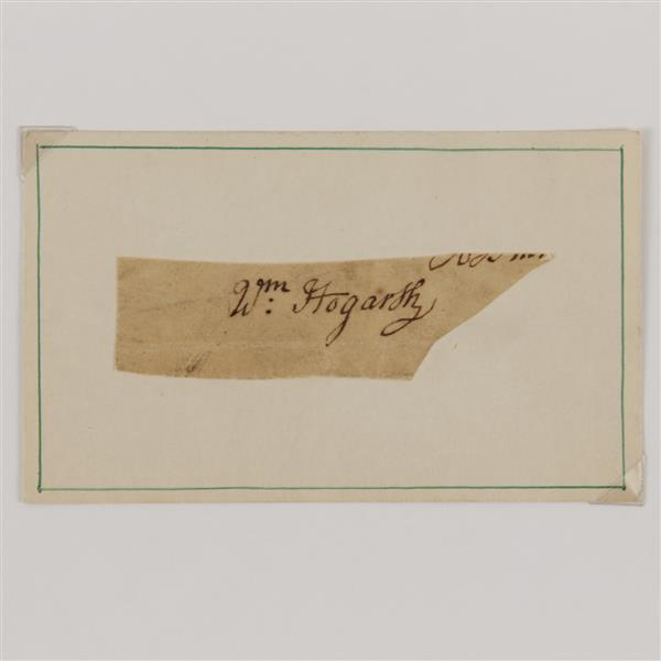 William Hogarth (1697-1794) Signature.